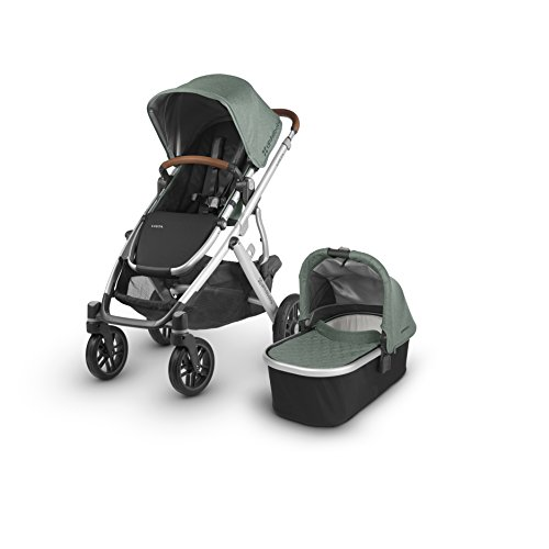 2018 UPPAbaby Vista Stroller – Emmett (Green Melange/Silver/Saddle Leather)