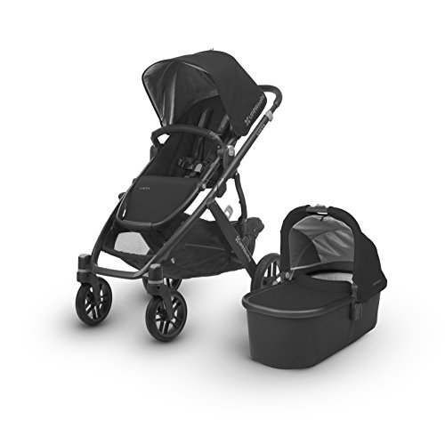 2018 UPPAbaby Vista Stroller -Jake (Black/Carbon/Black Leather)