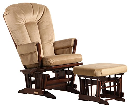 Dutailier Colonial 0380 Glider Multiposition-Lock Recline with Ottoman Included