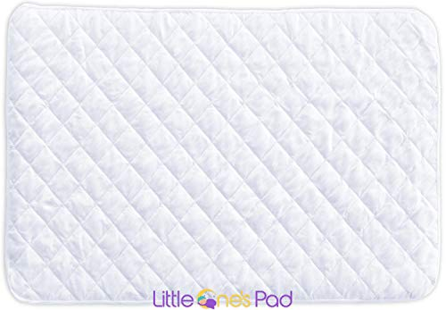 Little One's Pad Pack N Play Crib Mattress Cover – 27″ X 39″ – Fits Most Baby Portable Cribs, Play Yards and Foldable Mattresses – Waterproof, Dryer Safe – Comfy and Soft Fitted Crib Protector