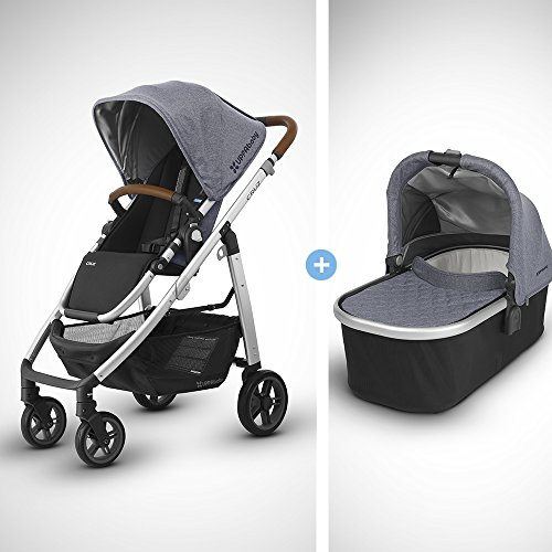 UPPAbaby Full-Size Compact Cruz Infant Baby Stroller & Bassinet Bundle, Gregory