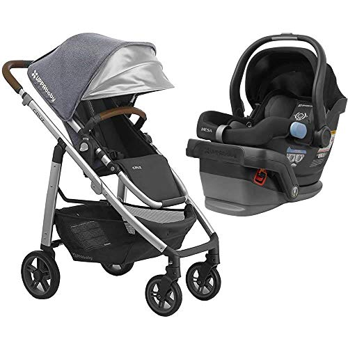 UPPAbaby Full-Size Cruz Infant Baby Stroller & MESA Car Seat Bundle, Gregory/Jake