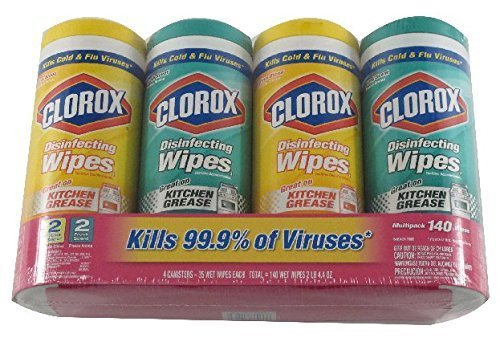 Clorox Disinfecting Wipes Value Pack, Bleach Free Cleaning Wipes – 35Count Each (Pack Of 4), 140Count