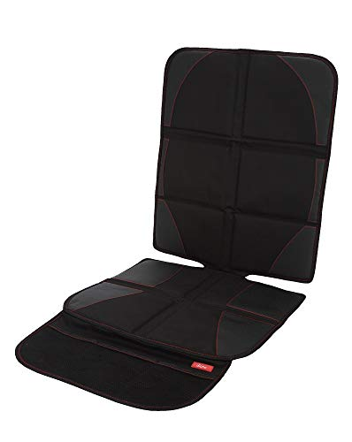 Diono Ultra Mat Deluxe, Vehicle Seat Protector and Child Car Seat Sun Shade, Black