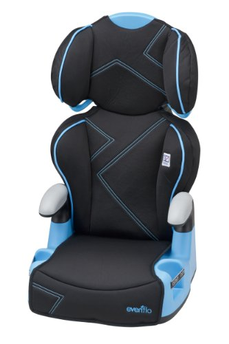 Evenflo AMP High Back Car Seat Booster, Blue Angles
