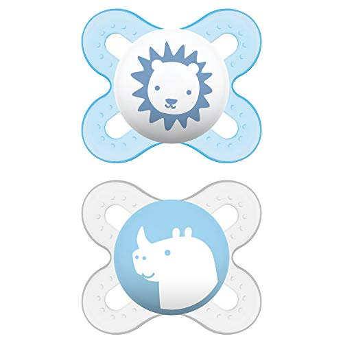 MAM Pacifiers, Newborn Pacifier, Best Pacifier for Breastfed Babies, 'Start' Design Collection, Boy, 2-Count