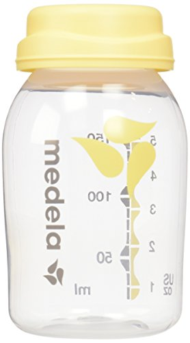 Medela, Breast Milk Collection and Storage Bottles, 5 Ounce Bottle, Not made with BPA, Compatible with Medela Breast Pumps, Dishwasher Safe, Easy to Read Volume Marks, 6-Count of Bottles