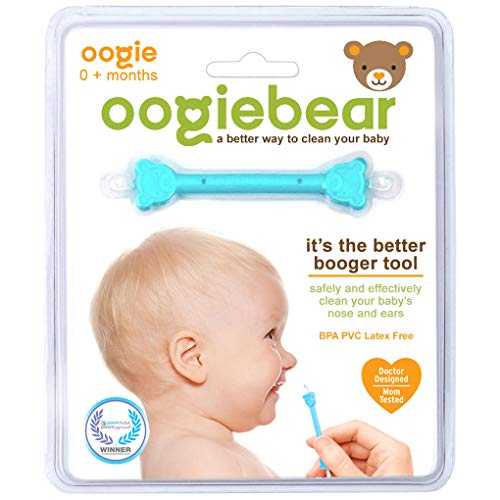 oogiebear – The Safe Baby Nasal Booger and Ear Cleaner; Baby Shower and Registry Essential Snot Removal Tool – 1 Count