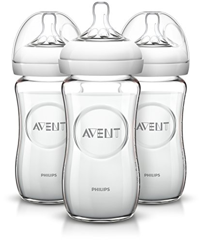 Philips AVENT Natural Glass Bottle, 8 Ounce (Pack of 3)