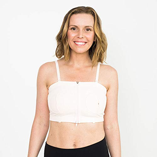 Simple Wishes Signature Hands Free Pumping Bra, Patented, Pink, X-Small – Large