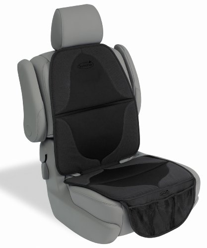 Summer ELITE DuoMat Car Seat Protector, Black – Premium Waterproof Seat Cover Pad with Storage Pockets