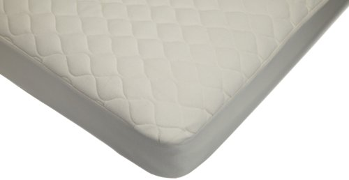 American Baby Company Waterproof Quilted CribandToddlerSize Fitted Mattress Cover made with Organic Cotton, Natural Color