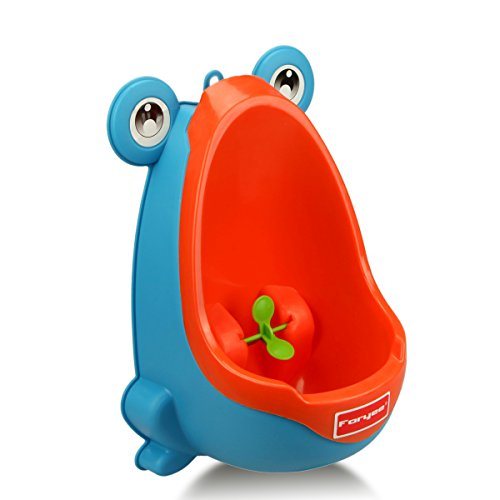 Foryee Cute Frog Potty Training Urinal for Boys with Funny Aiming Target – Blue