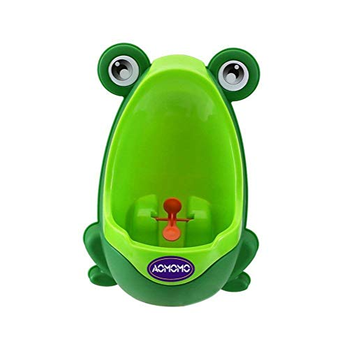 Frog Potty Training Urinal for Toddler Boys Toilet with Funny Aiming Target Green