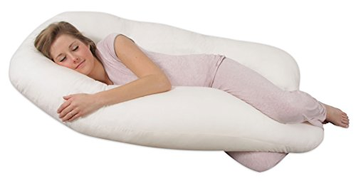 Leachco Back 'N Belly Pregnancy/Maternity Contoured Body Pillow, Ivory