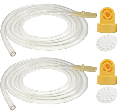 Nenesupply Compatible Tubing 2 Tubes 2 Valve 2 Membrane for Medela Pump In Style Breastpump Not Original Medela Pump Parts Not Original Medela Pumpinstyle Parts Replace Medela Tubing Medela Pump Tubes