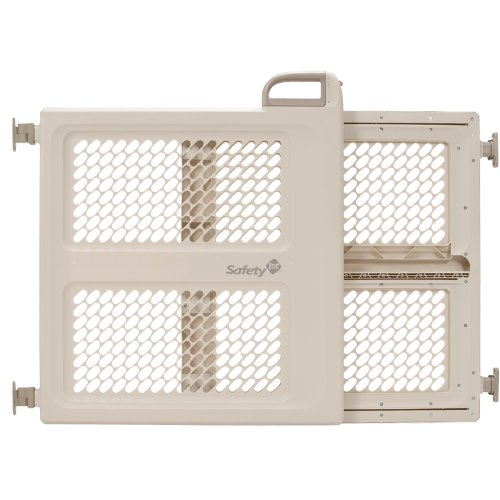 Safety 1st Pressure Mount Lift, Lock and Swing Gate, Fits Spaces between 28″ and 42″ Wide