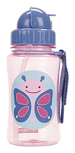 Skip Hop Straw Cup, Toddler Transition Sippy Cup, Butterfly