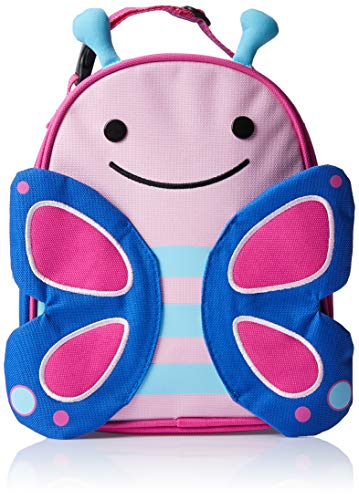 Skip Hop Zoo Kids Insulated Lunch Box, Blossom Butterfly, Pink