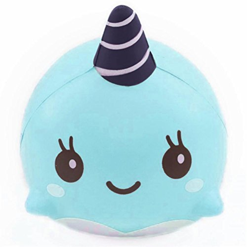 Slow rising squishy 9CM Soft Whale Cartoon Squishy Slow Rising Squeeze Toy Phone Straps Ballchains