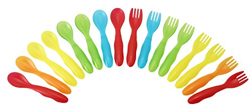 The First Years Take & Toss Flatware for Kids, 16 pieces