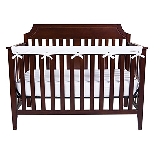 Trend Lab Waterproof CribWrap Rail Cover – for Narrow Long Crib Rails Made to Fit Rails up to 8″ Around
