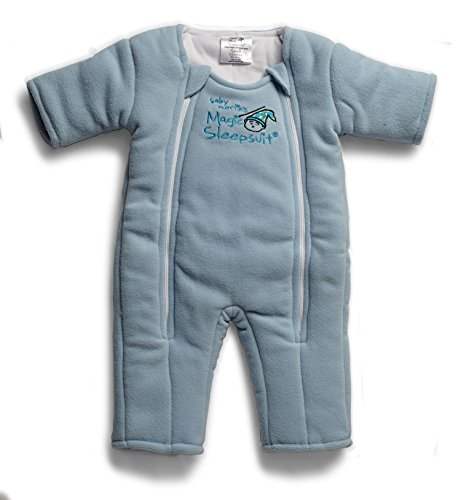 Baby Merlin's Magic Sleepsuit – Swaddle Transition Product – Microfleece – Blue – 3-6 Months