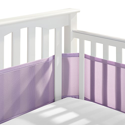 BreathableBaby Classic Breathable Mesh Crib Liner – Lavender
