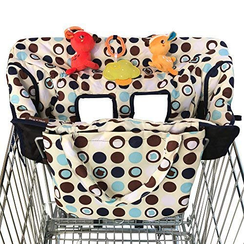 Croc n frog 2-in-1 Shopping Cart Covers for Baby and High Chair Cover – Medium Size