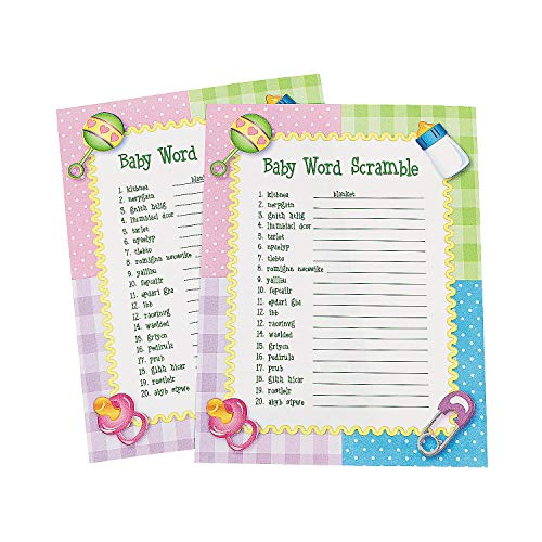 Fun Express Baby Word Scramble Baby Shower Game – 24 Pieces