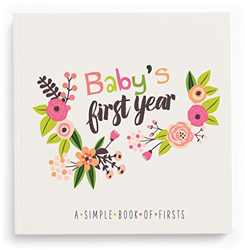 Lucy Darling Baby's First Year Memory Book: A Simple Book of Firsts – Little Artist Baby Journal – Baby Album