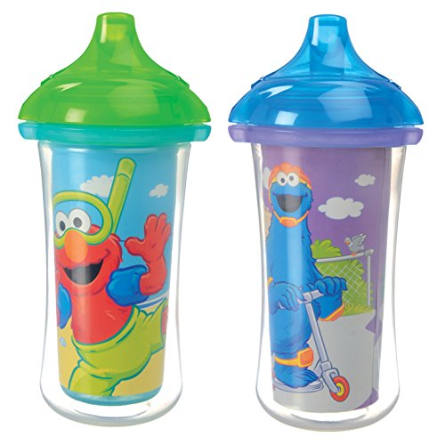 Munchkin Sesame Street Click Lock Insulated Sippy Cup, 2 Count