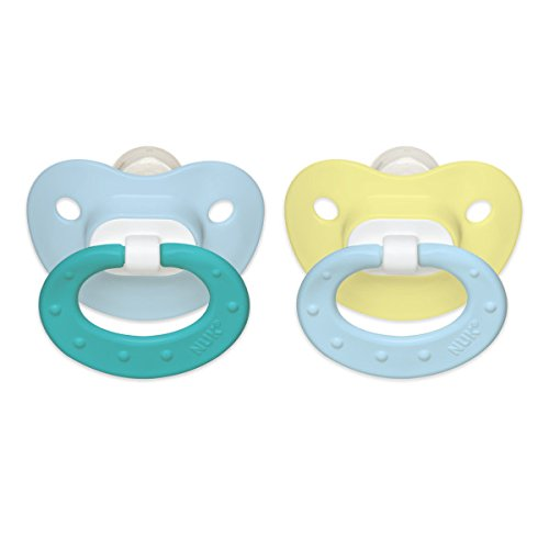 NUK Juicy Puller Silicone Pacifier, 0-6 Months, Boy, 2 pk