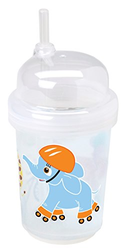 nuspin kids 8 oz Zoomi Straw Sippy Cup, Safari Animals Style