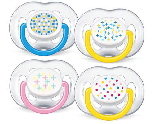 Philips Avent BPA Free Freeflow Pacifiers 6-18 Months, Assorted Colors 2 ea, Multicolor