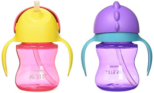 Philips Avent My Bendy Straw Cup, 7oz, 2pk, Pink/Purple, SCF790/22
