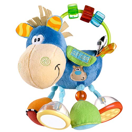 Playgro 0101145107 Toy box Clip Clop Activity Rattle for baby infant toddler children, Playgro is Encouraging Imagination with STEM/STEM for a bright future – Great start for a world of learning