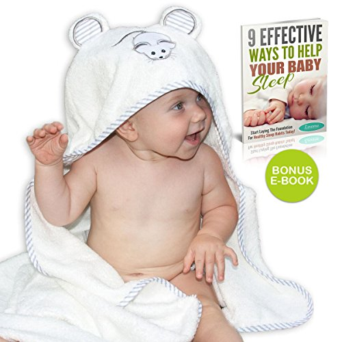 "Premium Bamboo Hooded Baby Towel by Liname️ – Extra Soft, Thick & Ultra Absorbent – Extra Large 40"" x 28"" for Infants & Toddlers – Keep Your Baby Warm & Cosy – Includes Bonus eBook"