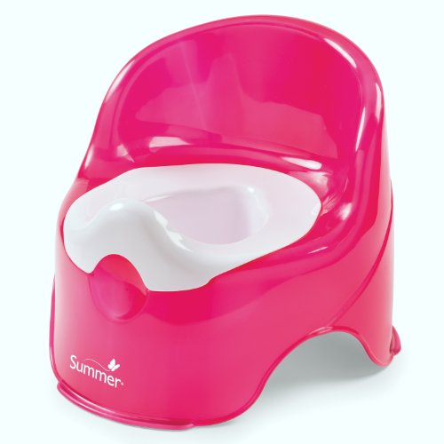 Summer Lil' Loo Potty, Raspberry and White