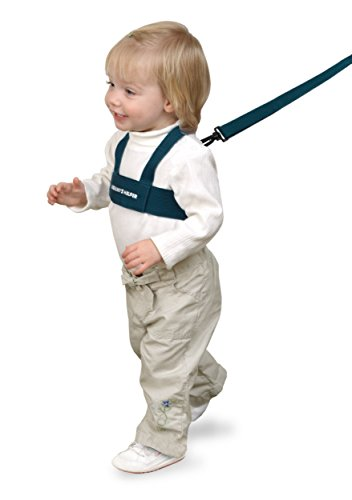 Toddler Leash & Harness for Child Safety – Keep Kids & Babies Close – Padded Shoulder Straps for Children's Comfort – Fits Toddlers w/ Chest Size 14-25 Inches – Kid Keeper by Mommy's Helper (Blue)