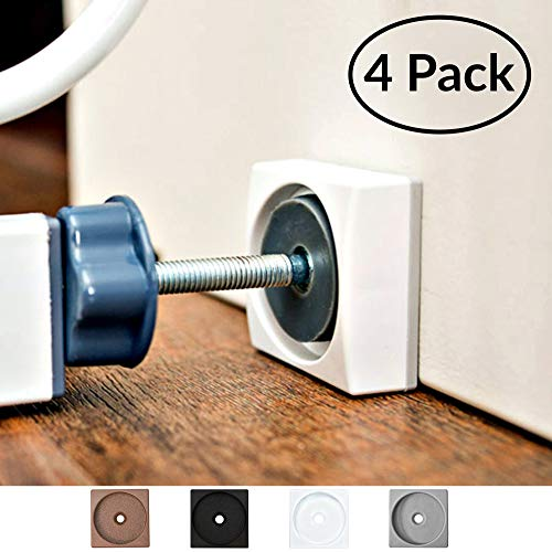 Wall Nanny Mini – Smallest Baby Gate Wall Protector – Low-Profile (Made in USA) for Dog & Pet Gates – Perfect in Doorways – Cups Protect Walls from Kid Child Safety Pressure Gates – Guard Saver