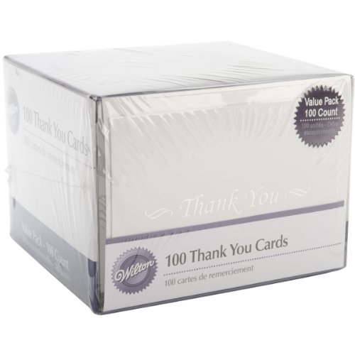 Wilton Basic Thank You Cards – 100 Count