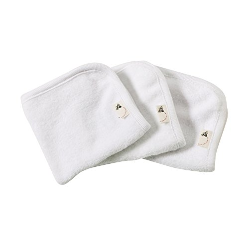 Burt's Bees Baby – Washcloths, Absorbent Knit Terry, Super Soft 100% Organic Cotton (Cloud, 3-Pack)
