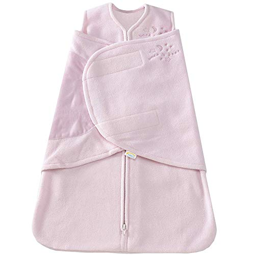HALO SleepSack Micro-Fleece Swaddle, Soft Pink, Small