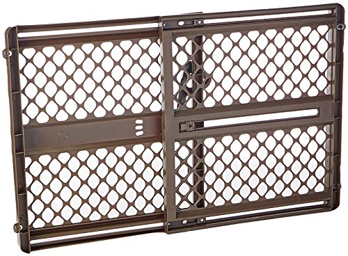 North States 42″ Wide Supergate Ergo Baby Gate: Includes sockets for Extra Holding Power. Hardware or Pressure Mount. Fits 26″-42″ Wide (26″ Tall, Espresso)
