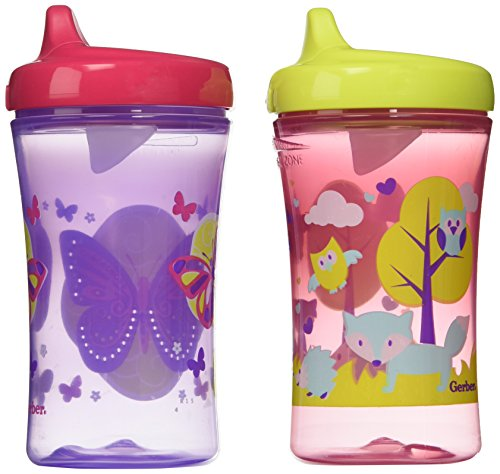 Nuk First Essentials Hard Spout Sippy Cup in Assorted Colors-2 Pack, 10-Ounce (Theme May Vary)