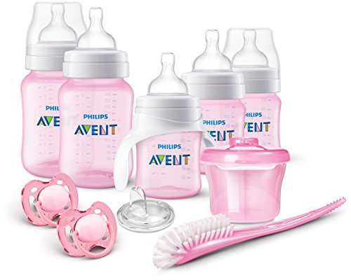 Philips AVENT Anti-Colic Bottle Newborn Starter Set,  Pink, 1 count