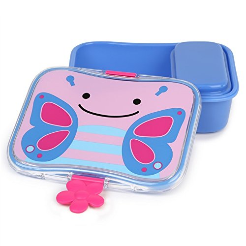 Skip Hop Baby Zoo Little Kid and Toddler Mealtime Lunch Kit Feeding Set, Multi, Blossom Butterfly