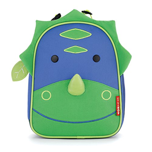 Skip Hop Zoo Kids Insulated Lunch Box, Dakota Dinosaur, Green