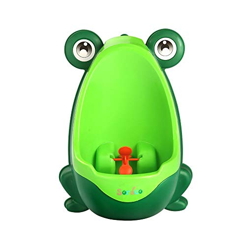 Soraco Frog Potty Training Urinal for Toddler Boys Toilet with Aiming Target – Green